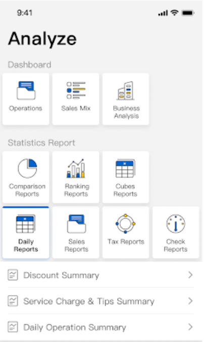 Shiji Payment Solutions dashboard