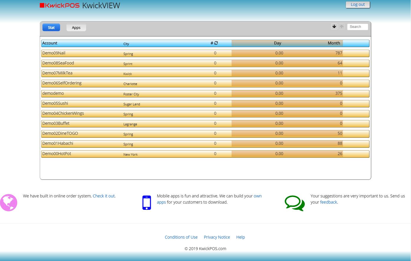 KwickPOS kwickview module