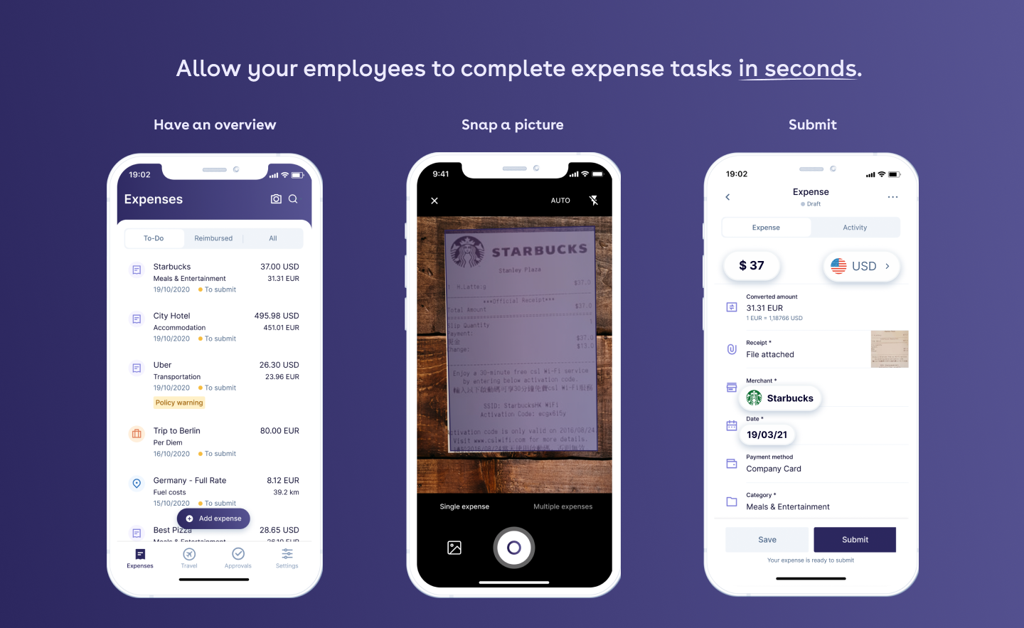 Allow your employees to complete tasks in seconds