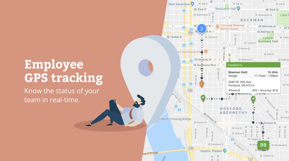 eBillity Time Tracker GPS tracking