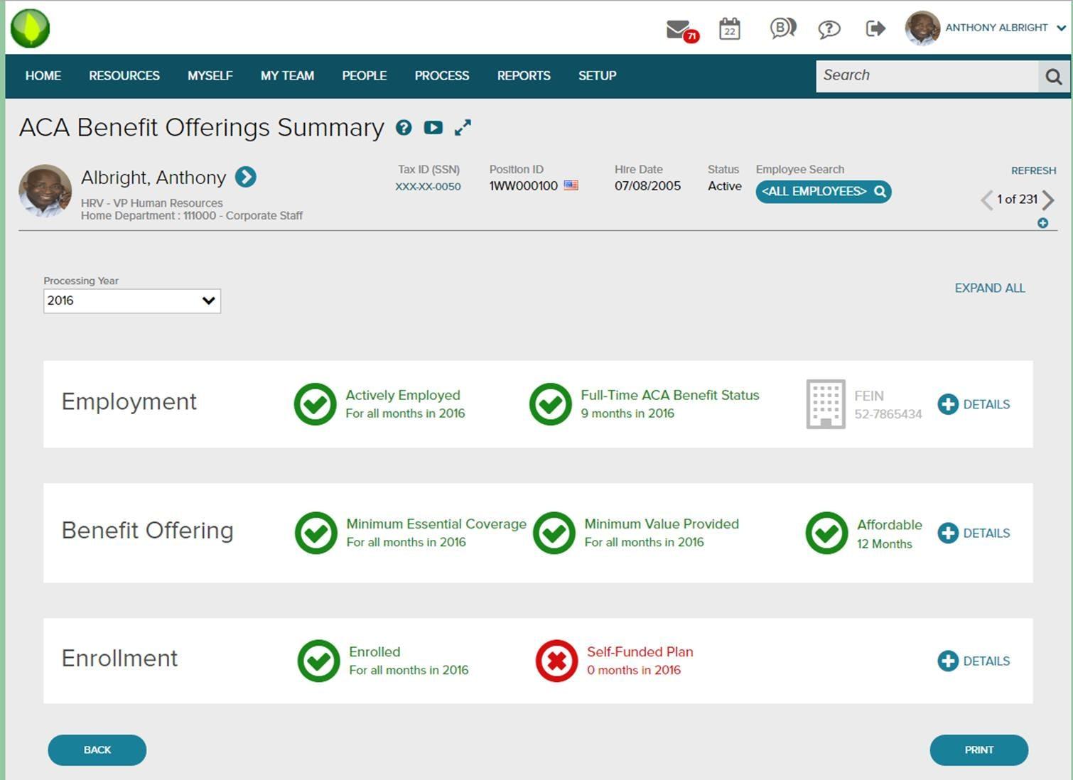 ADP Workforce Now Software - ADP Workforce Now -Benefits management