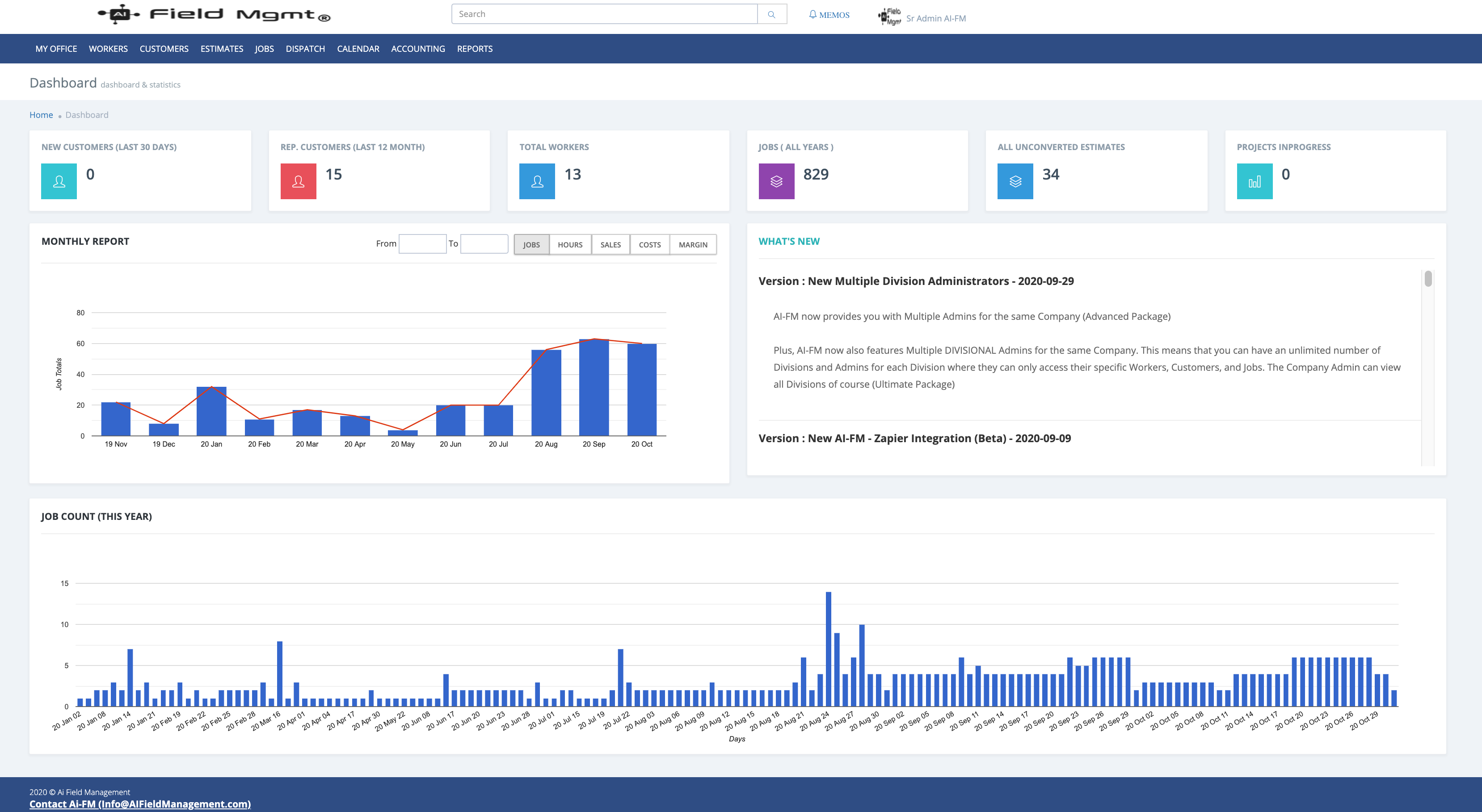 Company Admin Portal Dashboard