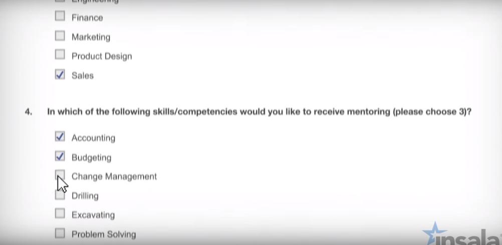 Insala Mentoring Software - Survey
