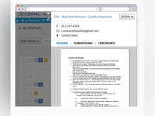 CEIPAL ATS Software - The software offers online resume parsing features