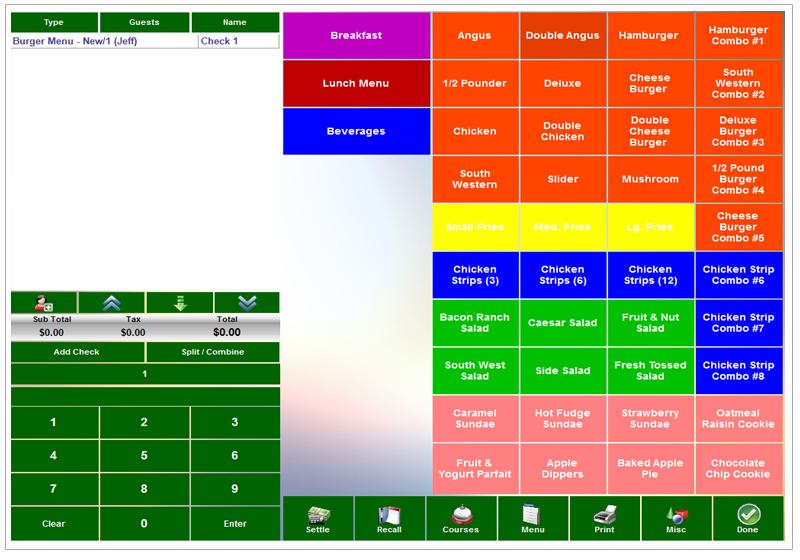 XERA POS Software - Touchscreen ordering %>
