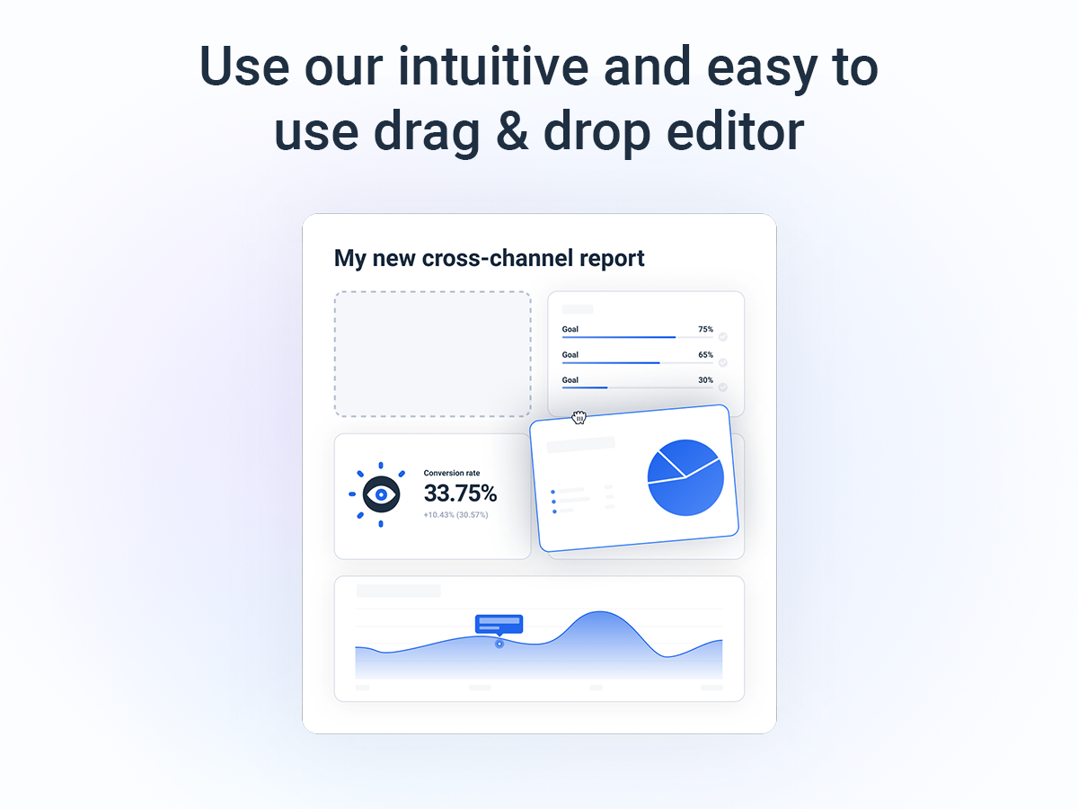 Whatagraph Software - Super intuitive & easy to use drag & drop editor