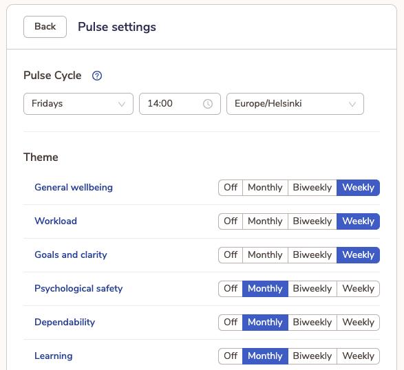 Customise Pulse Surveys the way you like