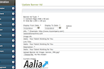 AMO screenshot: Sell website banner ads and track activity