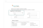 ClearCare screenshot: Applicant tracking system streamlines the hiring process, posting applicant links to website so caregivers can apply directly online