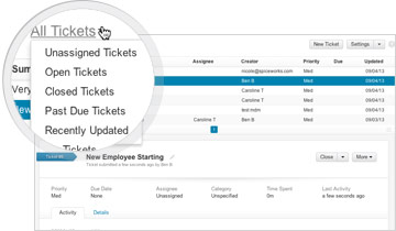Manage Help Tickets