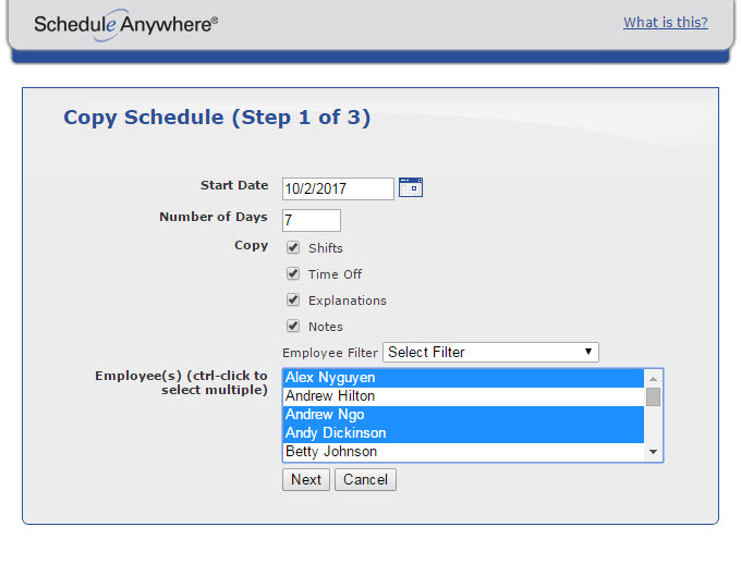 Schedules and rotations can be copied, removing the need for users to manually enter repeating schedules