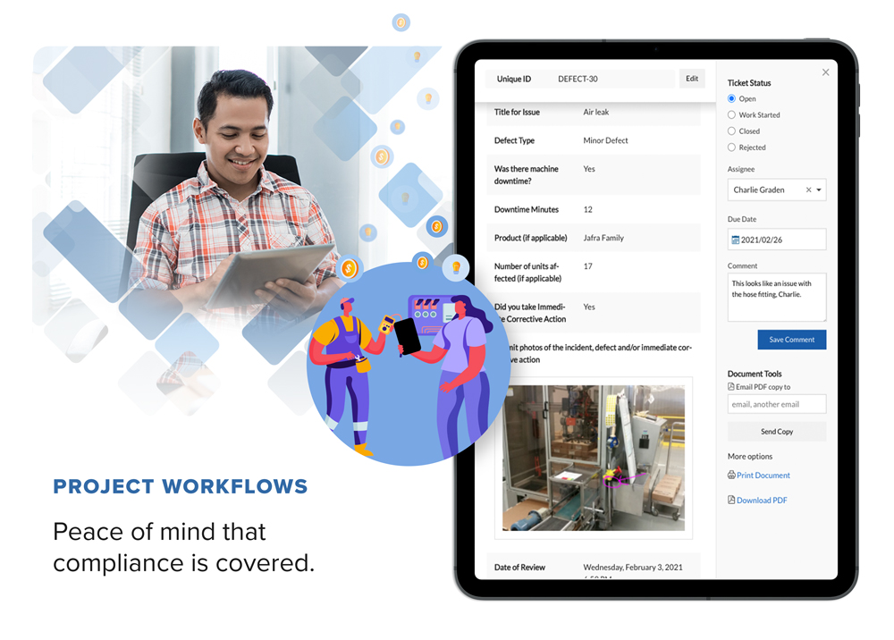 Project Workflow - Peace of mind that compliance is covered.