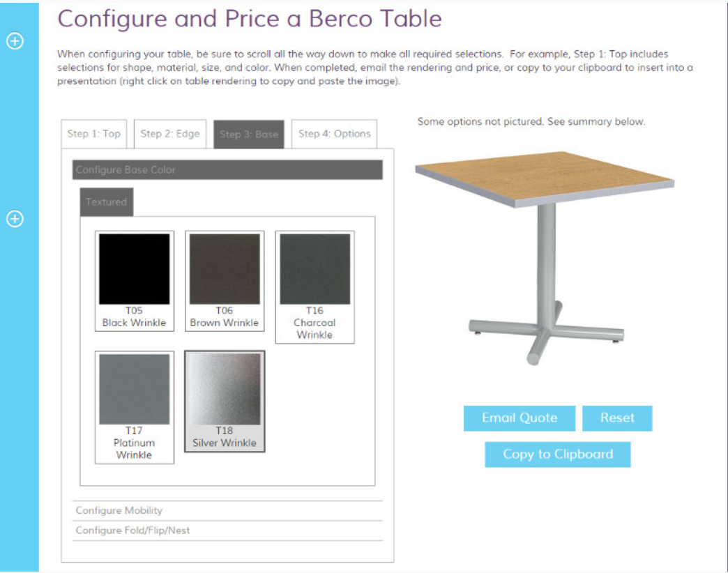 Synoptive - Table Configurator