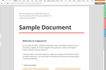 Captura de pantalla de pdfFiller: Customize documents with personalized text and layouts