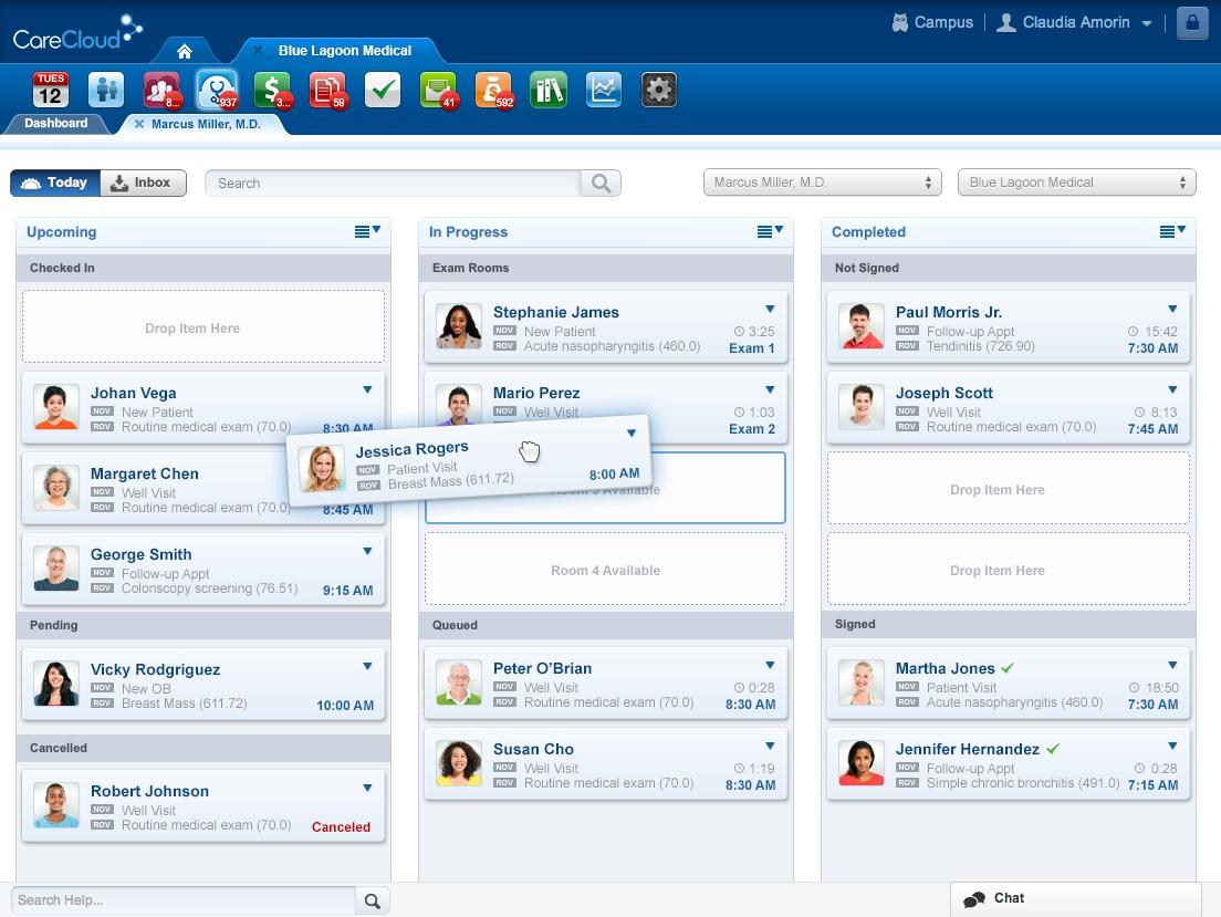 CareCloud Software - Real-Time Patient Flows