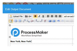 ProcessMaker screenshot: An output document builder enables the creation of printable output documents such as receipts, letters, confirmations, invoices and contracts etc