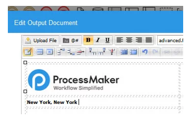 An output document builder enables the creation of printable output documents such as receipts, letters, confirmations, invoices and contracts etc