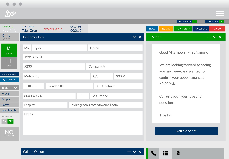 Ytel Software - Customer script