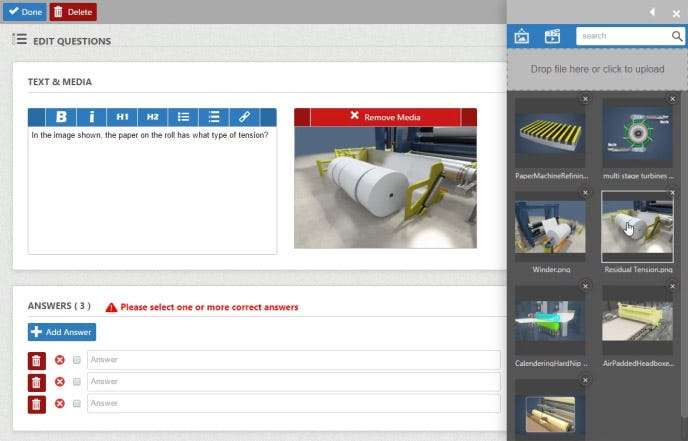 Convergence LMS Software - Create quizzes, surveys, and task lists using content creation tools.