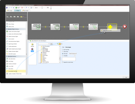 Workflows can be automated for various processes in Cherwell