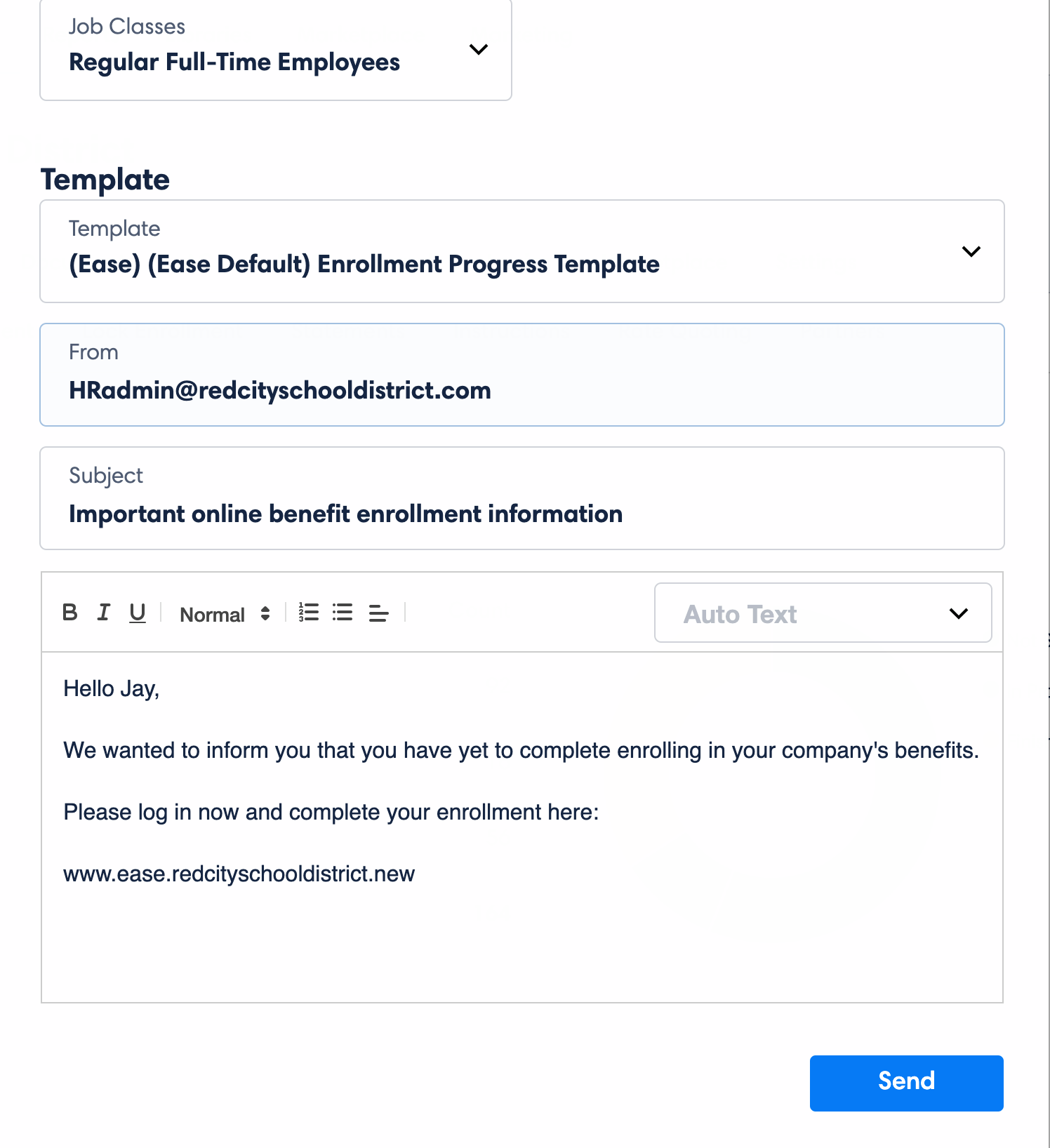 Ease emailing employees