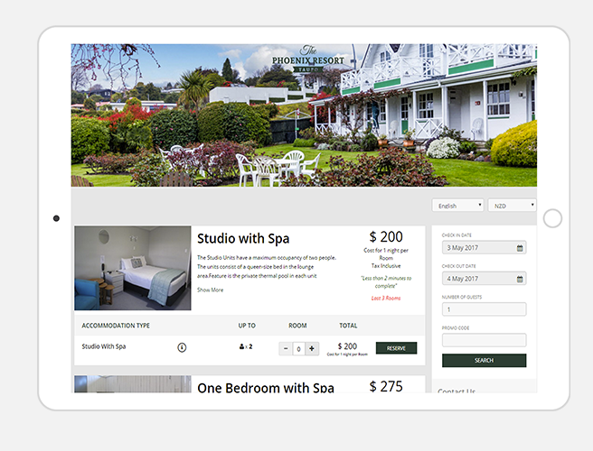 Customize the booking engine to match the look and feel of the user's brand
