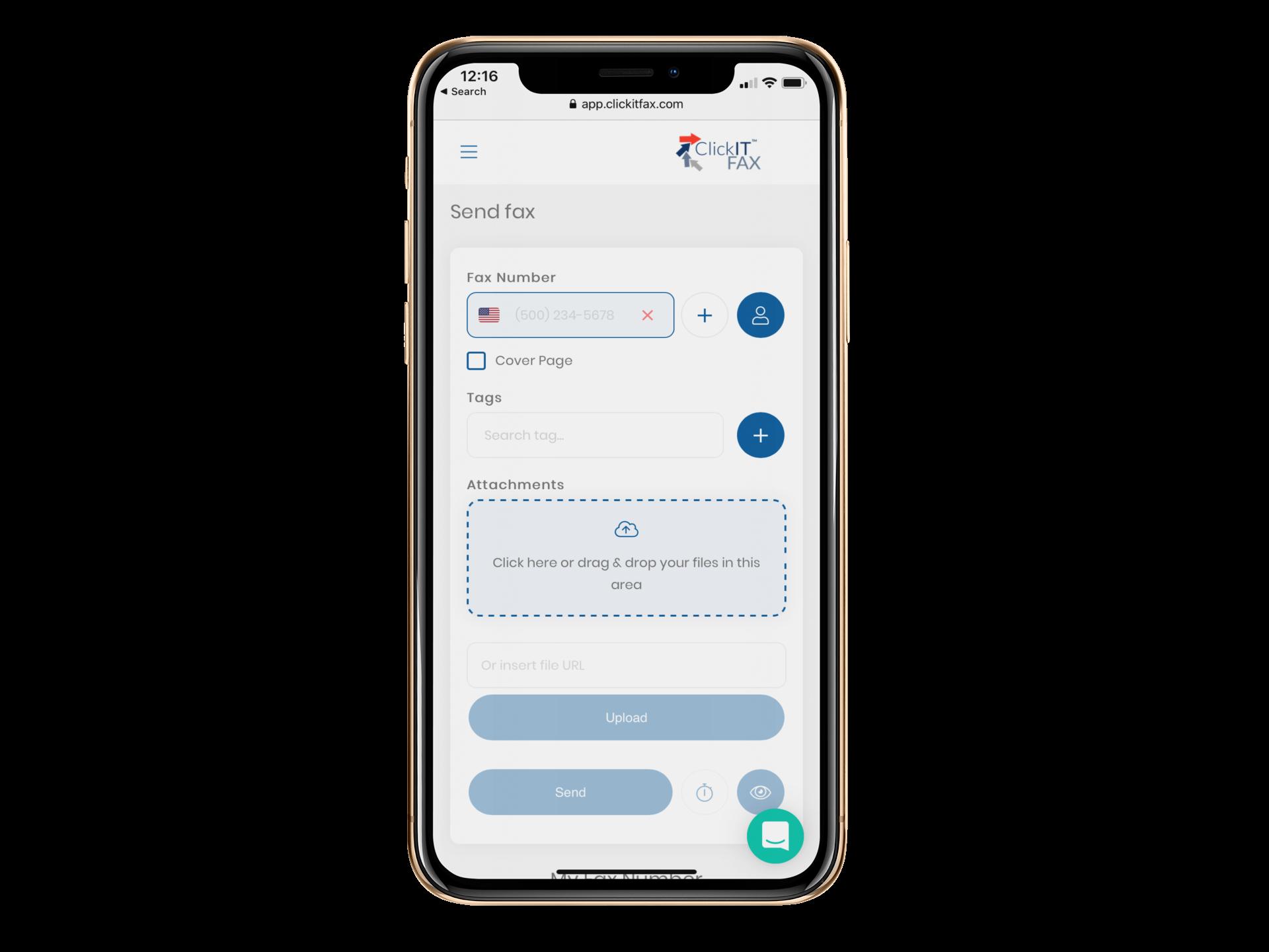 ClickITFax mobile app
