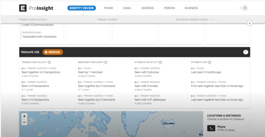 Ekata Pro Insight network risk