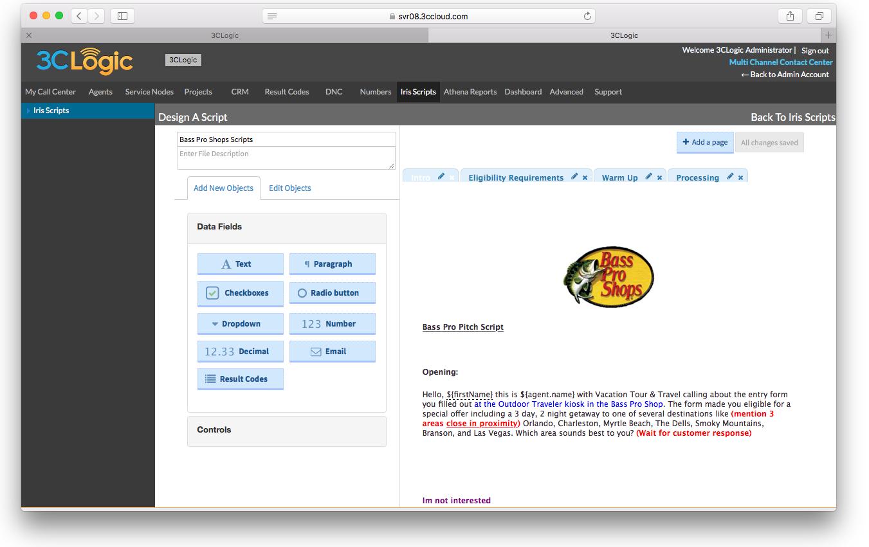 3CLogic Software - Design a script