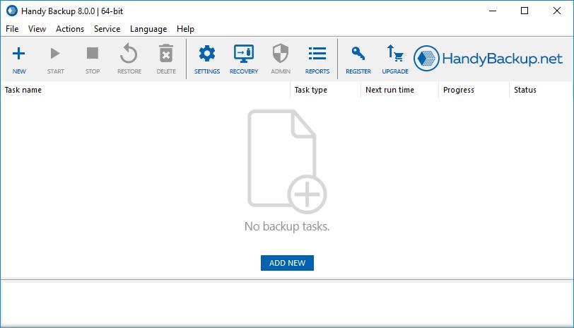 Handy Backup new task