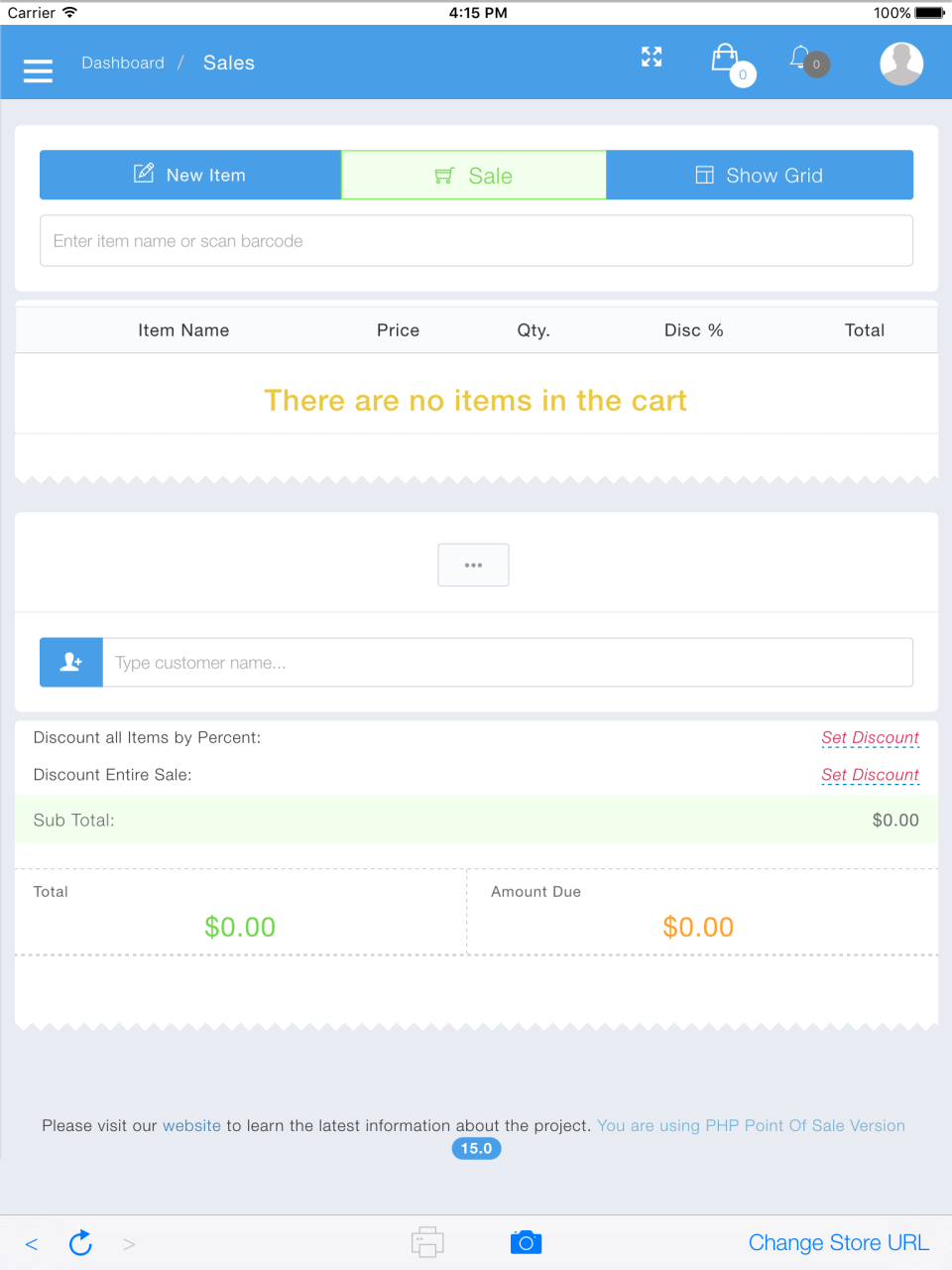 Sales screen for multiple items that calculate discounts and promotions