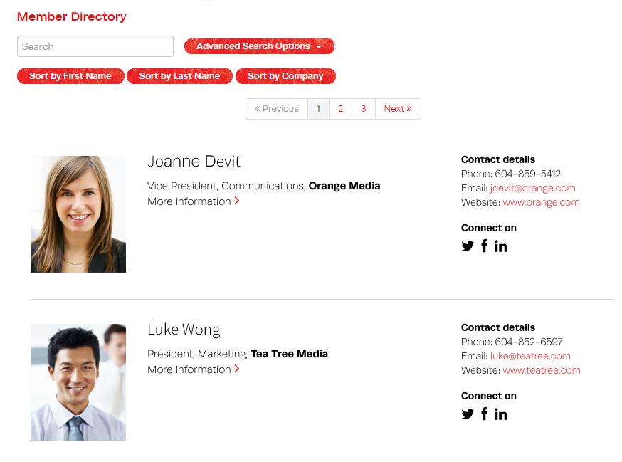 Dash Software - Member directory