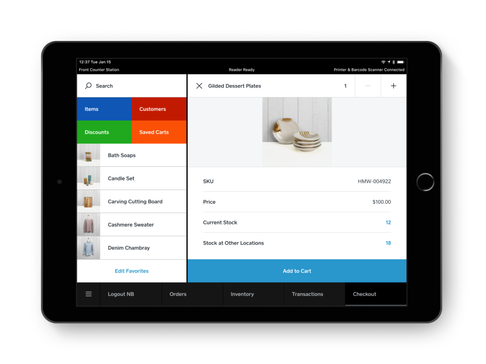 Square for Retail Software - 3