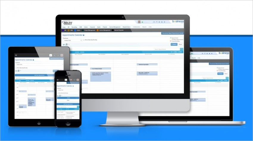 Striven screenshot: A single system for all core business processes