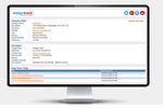 VisitorTrack screenshot: Review company and visit details to identify optimal prospect opportunities