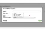 interviewstream screenshot: Set up pre-qualifying questions