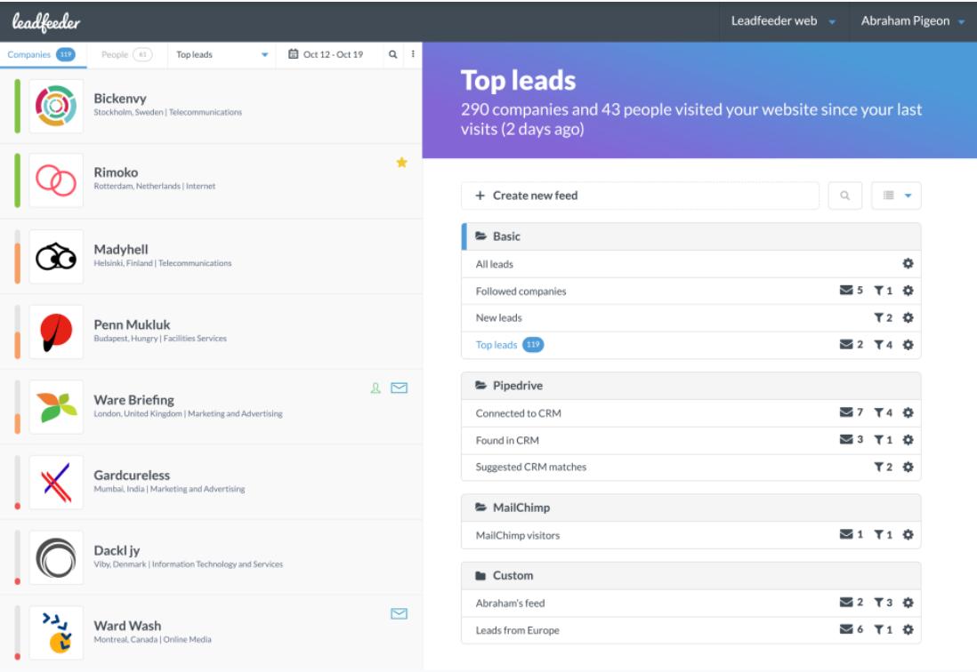 Leadfeeder Software - 2021 Reviews, Pricing & Demo