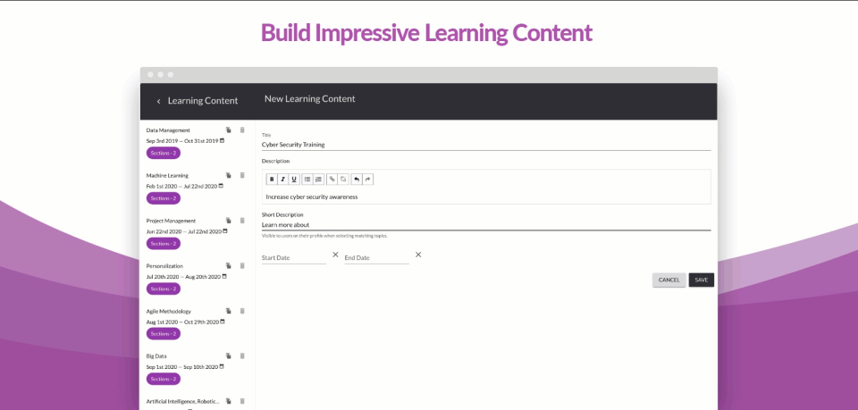 eMentorConnect Software - Learning content builder