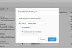 DISCO screenshot: DISCO export documents