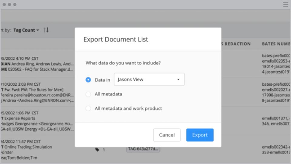 DISCO export documents