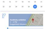 Google Calendar screenshot: