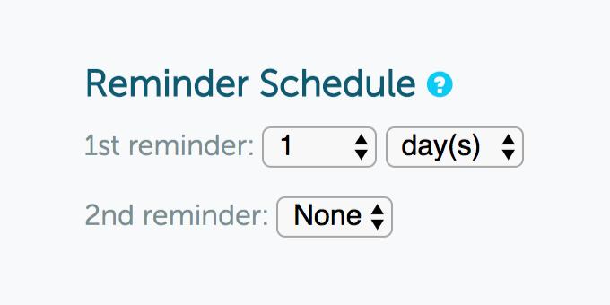 GoReminders reminder schedule