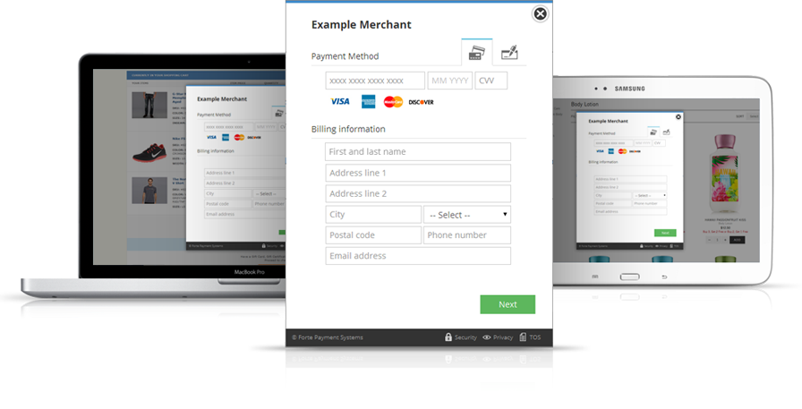 Forte Payment Systems screenshot: Forte merchant payments