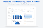 Together Enterprise Mentoring screenshot: Get program insights with built-in reporting. Measure program activity, health, and engagement and see real progress towards skill development and goals.