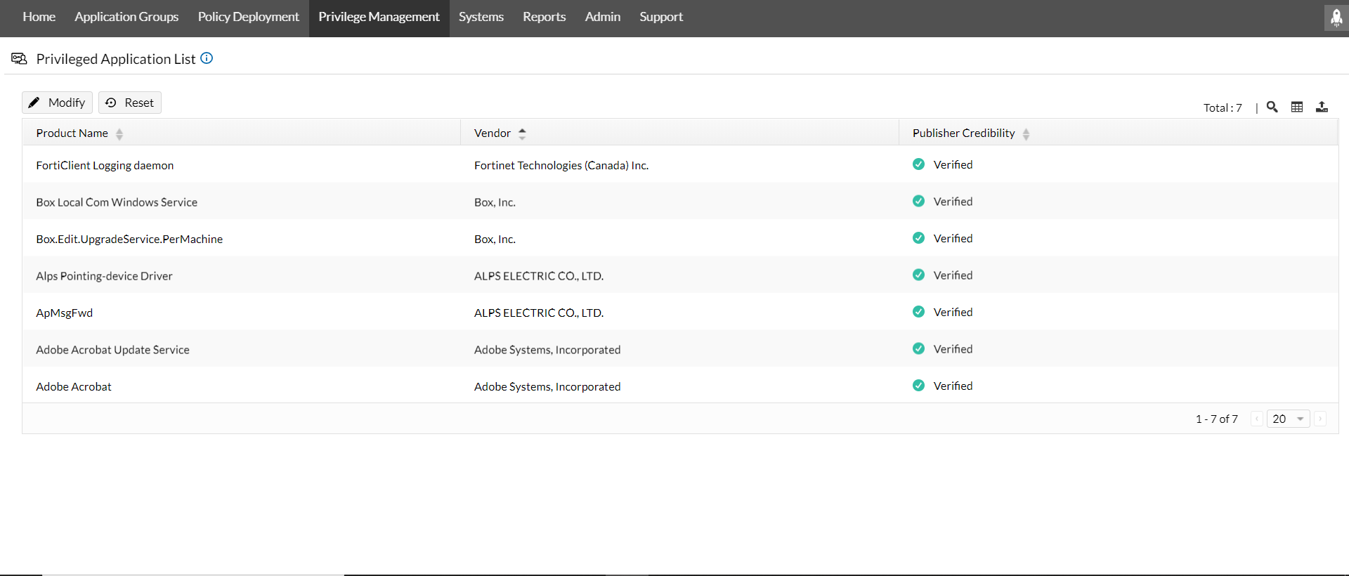 ManageEngine Application Control Plus privilege management
