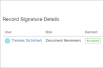 Adaptive Compliance Engine (ACE) screenshot: Adaptive Compliance Engine (ACE) digital signatures