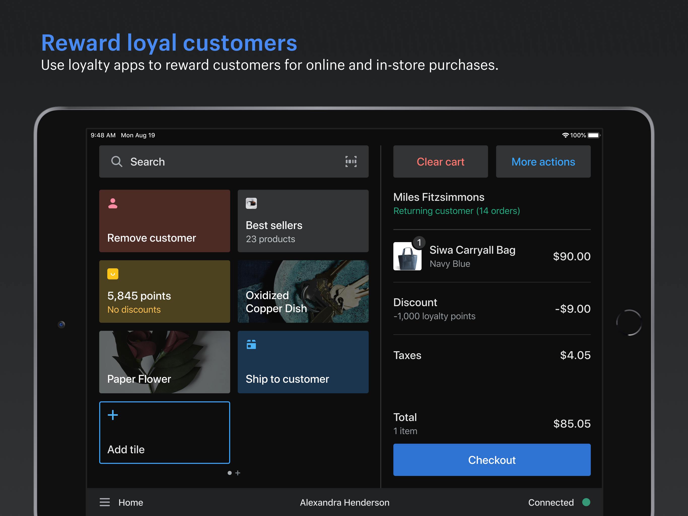 Reward your loyal customers with a variety of loyalty apps to choose from. No matter whether they buy online or in-store, ensure their loyalty is captured and rewarded.