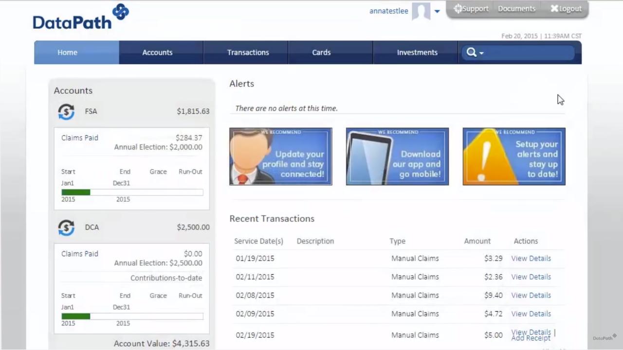Summit user's portal / participant portal