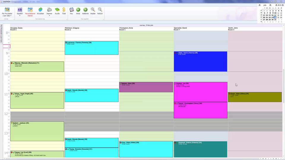 ADSTRA management offers a scheduling system for visualizing appointment timetables
