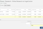 TimeSolv Legal Billing screenshot: TimeSolv Legal Billing project budget